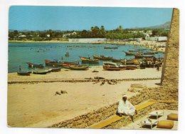 Tunisie-- HAMMAMET --La Plage Vue Du Café Sidi Bou Hadid --animée,  Timbre-cachet - Tunesië