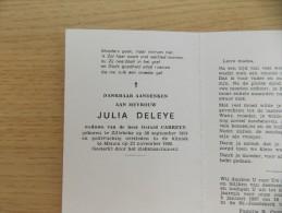 Doodsprentje Julia Deleye Zillebeke 28/9/1924 Menen 23/11/1996 ( Gerard Carreyn ) - Religión & Esoterismo