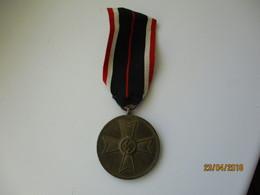 GERMAN WW II HITLER ERA MEDAL FÜR KRIEGSVERDIENST 1939 , 0 - Allemagne