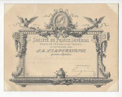 IMPERATRICE EUGENIE (1826-1920) AUTOGRAPHE ORIGINAL AUTOGRAPH SOCIETE DU PRINCE IMPERIAL 1862 VOYERS /FREE SHIPPING R - Handtekening