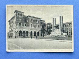Cartolina Treviso - Monumento Ai Caduti E R.R. Poste - 1939 - Treviso