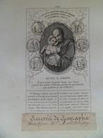 XIX° -  Image Pieuse Religion Catholique Bon Point Accessit De Géographie Editeur ALCAN PL 198 - ALLEZ à JOSEPH - Religión & Esoterismo
