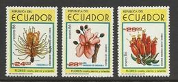 Equateur 1986 Yv. 1101/1103 ** Fleurs Flowers Flores Blumen Fiori - Ecuador