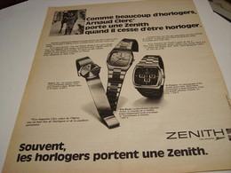 ANCIENNE AFFICHE PUBLICITE  DE MONTRE ZENITH 1975 - Autres