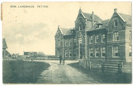 Netherlands 1925 Petten Gem.Landhuis Pc Used To Hilversum, TPO, Alkmaar Pmark - Netherlands