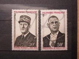 VEND BEAUX TIMBRES DE POLYNESIE N° 89 + 90 , XX !!! - Neufs