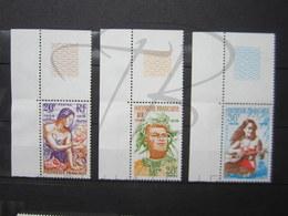 VEND BEAUX TIMBRES DE POLYNESIE N° 121 - 123 + BDF , XX !!! - Polynésie Française