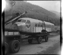 Lot De 20 Négatifs Transport D'un Avion Au Markstein Haut-Rhin Vallée De Thann Novembre 1949 Transports Koenig - Photographie