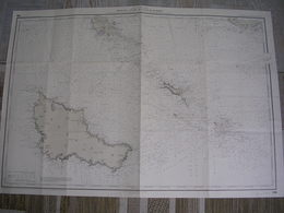 Topographie De Belle -île Et Entrée De La Baie De Quiberon Juillet 1948 édition N°9 - Cartes Topographiques