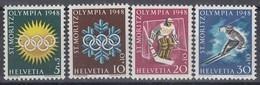 SCHWEIZ  492-495 X, Postfrisch **, Olympische Winterspiele St. Moritz 1948 - Schweiz