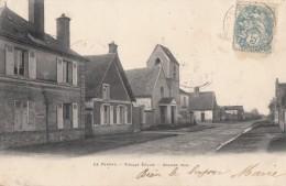 CPA - Le Perray - Vieille église - Grande Rue - Le Perray En Yvelines