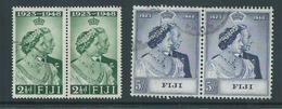 Fiji 1948 Royal Silver Wedding Set 2 As FU Pairs - Fiji (...-1970)