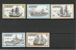 ALDERNEY - AURIGNY - ANNEE COMPLETE 1990 ** - BATEAUX - Alderney