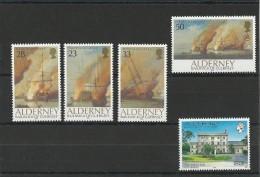 ALDERNEY - AURIGNY - ANNEE COMPLETE 1992 ** - BATEAUX - Alderney