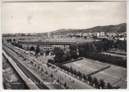 TORINO STADIO COMUNALE CON CAMPI DA TENNIS DELLO SPORTING - CARTOLINA SPEDITA NEL 1955 - Italy