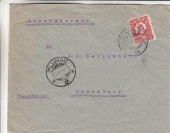 Lituanie - Lettre De 1921 ° - Oblit Plunge - Exp Vers Luxembourg - - Lituania