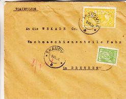 Lituanie - Lettre De 1924 ° - Oblit Skaudvile - Exp Vers Dresden - Lithuania