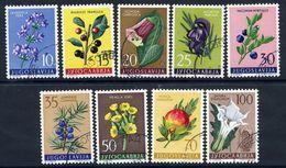 YUGOSLAVIA 1959 Flowers III, Used.  Michel 882-90 - 1945-1992 Socialist Federal Republic Of Yugoslavia