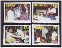 D101225 Venda 1992 South Africa KNITTING SEWING Manufacture MNH Set - Afrique Du Sud Afrika RSA Sudafrika - Venda