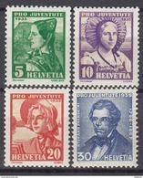 SCHWEIZ  287-290, Postfrisch **, Pro Juventute: Trachten  1935 - Pro Juventute