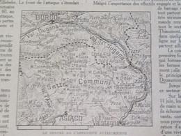 La Grande Guerre 14-18 La Semaine Militaire 8 Au 15 Juin 1916  Offensive Autriche Asiago Sette Borgo + Carte Du Front - Old Paper
