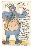 CARTE À SYSTÈME - 10 Vues - HALTE-LÀ - Si Vou Voulez Voir... - MILITARIA HUMORISTIQUE - Ed. Halte Là E. R., Paris - Cartoline Con Meccanismi