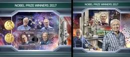 Maldives 2018, Nobel Prize 2017, 4val In BF+BF - Maldives (1965-...)