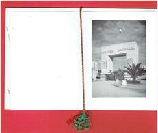CARTE DOUBLE 4e REGIMENT DE SPAHIS MAROCAINS QUARTIER BOURNAZEL A FEZ MAROC VERS 1955 - Documents