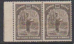 Belgisch Congo 1931 Inheemse Mensentypen 10fr (in Paar) (bruine Vlekjes Op Gom) ** Mnh (38389) - Belgisch-Kongo
