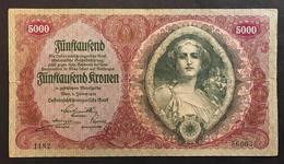 AUSTRIA 5000 Kronen 1922 Pick 79  LOTTO 545 - Austria