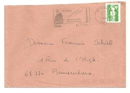 EURE - Dépt N° 27 = VERNON 1992 = Flamme Type II = SECAP Illustrée ' BERCEAU Des Fusées Spatiales ' - Postmark Collection (Covers)