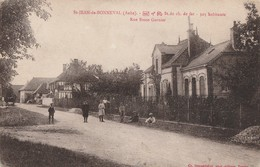SAINT JEAN DE BONNEVAL - LA RUE BASSE GARNIER - BELLE CARTE ANIMEE - - Francia