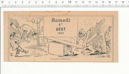 Humour De 1891 Partie De Balançoire (genre Jeu D'enfants Tape-cul) 216PF10XQ - Alte Papiere
