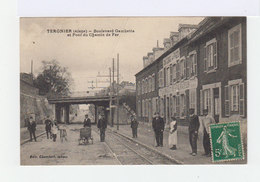 Tergnier. Aisne. Boulevard Gambetta. Pont Du Chemin De Fer. Façade Restaurateur Lenglet. (2701) - France