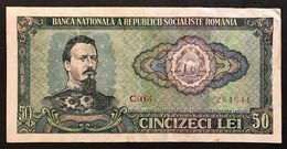 ROMANIA 1966 50 LEI LOTTO 597 - Romania