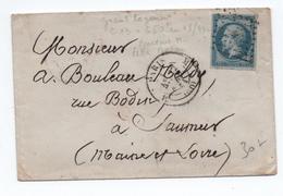 1861 - LETTRE De PARIS Avec TàD BUREAU M - Postmark Collection (Covers)