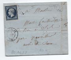 1856 - LETTRE De MARTIGNY (BOITE RURALE K) Avec TàD De LAMARCHE (VOSGES) & PC 1623 - Marcophilie (Lettres)