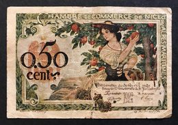 FRANCIA France Chambre De Commerce De Nice 0,50 Cent 1920 LOTTO 474 - 1871-1952 Antiguos Francos Circulantes En El XX Siglo