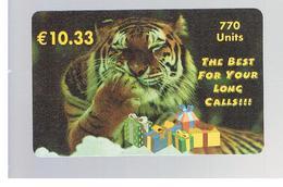 ITALIA (ITALY) - REMOTE - WORLDCOM - ANIMALS: TIGER - USED - RIF. 10923 - Schede GSM, Prepagate & Ricariche