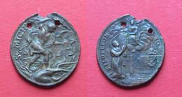 1600-1700 SAN MICHELE - RECTO ILDEFONSO VESCOVO DI TOLEDO CON STEMMA DI PALERMO IN BASSO A DESTRA - RARA - Other