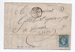 1866 - LETTRE De CADEROUSSE (BOITE RURALE A) Avec TàD D'ORANGE (VAUCLUSE) - 1849-1876: Période Classique