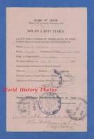 Document D'un Soldat Américain - Billet De Permission à Visiter PARIS - Cachet Arrivée En Gare Et Départ - 1919 - Train - Railway