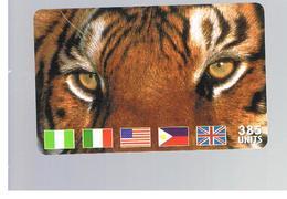 ITALIA (ITALY) - REMOTE - MCI -   ANIMALS TIGER FLAGS  385 UNITS            - USED - RIF. 10925 - Italy