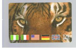 ITALIA (ITALY) - REMOTE - MCI -   ANIMALS TIGER FLAGS  770 UNITS            - USED - RIF. 10926 - Italy