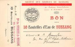 SOCIETE DES SOURCES DE BUSSANG- BORDEAUX - Health