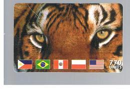 ITALIA (ITALY) - REMOTE - MCI -   ANIMALS TIGER FLAGS  770 UNITS            - USED - RIF. 10928 - Schede GSM, Prepagate & Ricariche