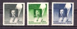 """URSS - 1944 - Poste Aérienne N° 67 à 69 - Neufs * - 10 Ans Ascencion Ballon """"Sirius"""" - Unused Stamps"""