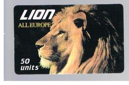 ITALIA (ITALY) - REMOTE - LION CARD -   ANIMALS , ALL EUROPE            - USED - RIF. 10929 - Italy