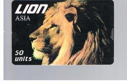 ITALIA (ITALY) - REMOTE - LION CARD -   ANIMALS , ASIA            - USED - RIF. 10931 - Italy