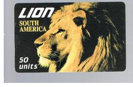 ITALIA (ITALY) - REMOTE - LION CARD -   ANIMALS ,  SOUTH AMERICA           - USED - RIF. 10932 - Italy